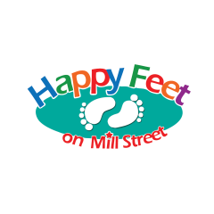 Happy Feet Child Care Logo
